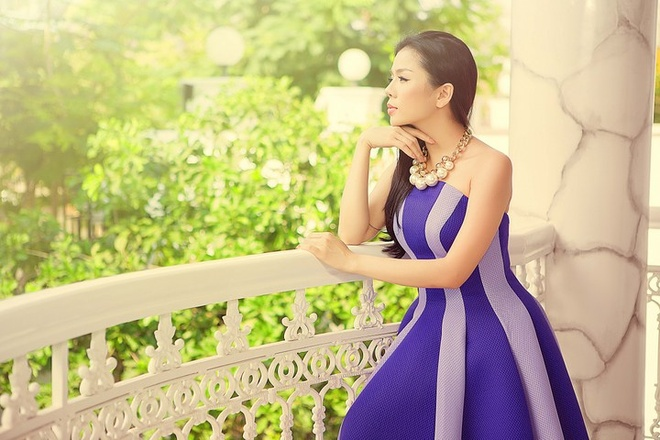 Le Quyen xinh dep trong trang phuc cua NTK Vu Thu Phuong hinh anh