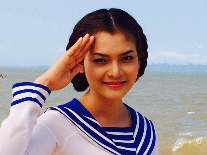 'Sao mai' Phuong Thao lam MV dong vien nguoi linh Truong Sa hinh anh