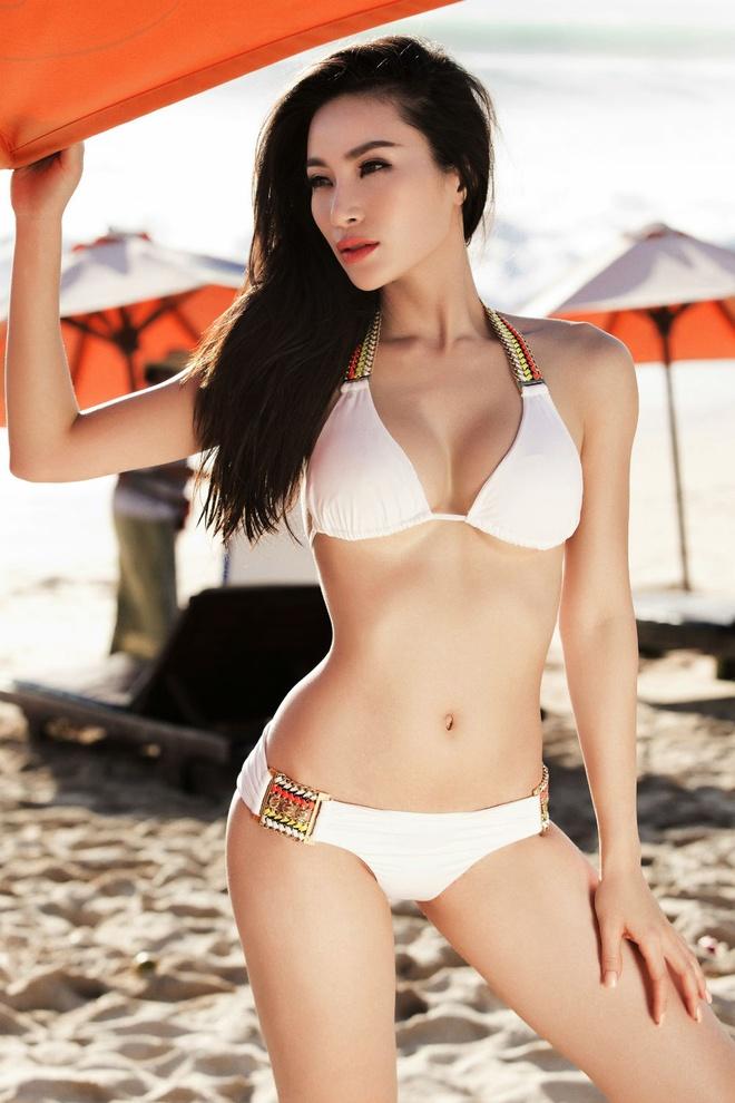 Hoa hau Le My Na nong bong voi bikini ngay he hinh anh 1