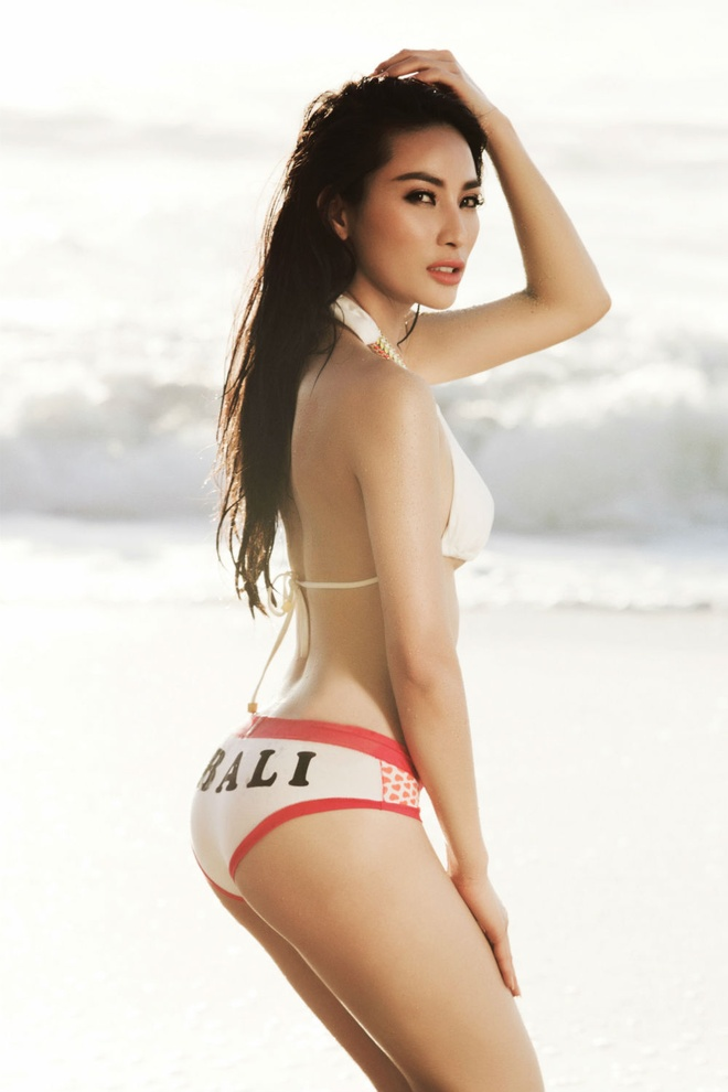 Hoa hau Le My Na nong bong voi bikini ngay he hinh anh 3