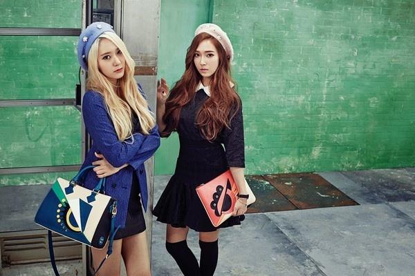 Jessica (SNSD): Nu hoang thoi trang dich thuc cua Kpop hinh anh 12 Hình ảnh trong chiến dịch quảng bá mùa Thu/Đông 2014 của Lapalette do Jessica và Krystal thể hiện.