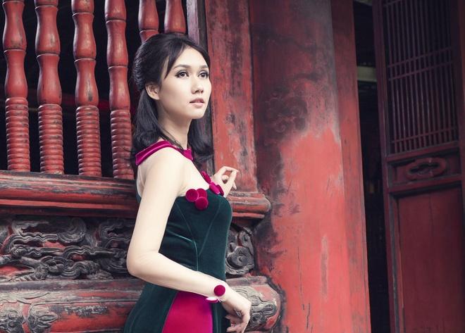Hoa khoi - MC quoc phong dep diu dang voi ao dai cach dieu hinh anh