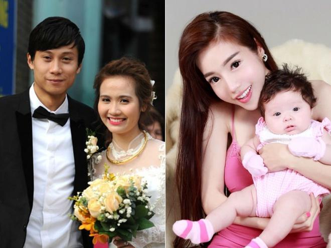 5 hot girl gay soc khi bat ngo lay chong, sinh con nam 2014 hinh anh