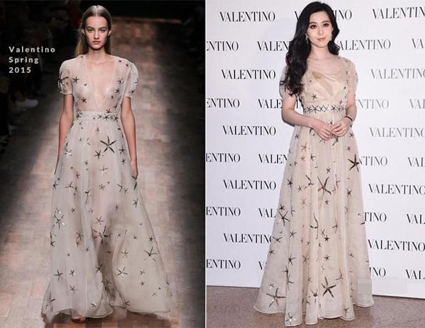 Pham Bang Bang: Nu hoang hang hieu cua Cbiz hinh anh 2 Tới tham dự sự kiện ra mắt cửa hàng mới của hiệu Valentino tại Hồng Kông, cô duyên dáng trong chiếc váy voan xòe của cùng thương hiệu.