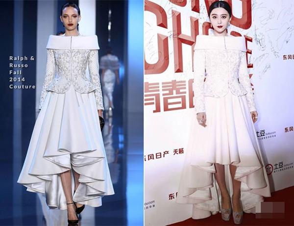 Pham Bang Bang: Nu hoang hang hieu cua Cbiz hinh anh 5 Nữ diễn viên tỏa sáng với váy trắng hiệu Ralph & Russo Couture trong sự kiện