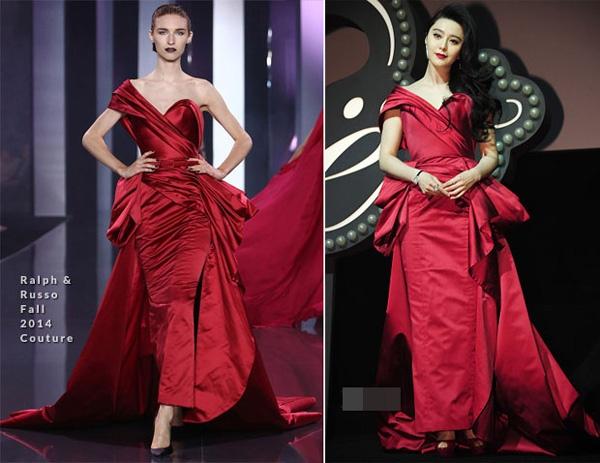 Pham Bang Bang: Nu hoang hang hieu cua Cbiz hinh anh 6 Chiếc váy đỏ hiệu Ralph & Russo cũng được cô lựa chọn đi dự sự kiện tại Shanghai.