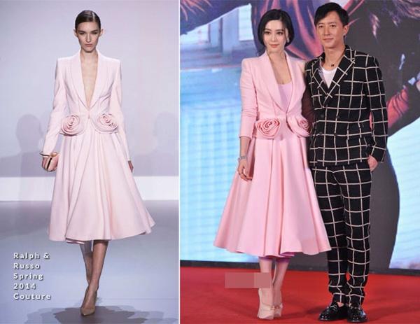 Pham Bang Bang: Nu hoang hang hieu cua Cbiz hinh anh 7 Phạm Băng Băng xinh như nữ thần với váy hồng hiệu Ralph & Russo Couture trong buổi ra mắt phim