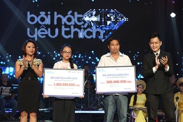 Nhung ca tinh am nhac dai dien cho tung the he Vpop hinh anh 5 Phương Mỹ Chi nhận giải Bài hát yêu thích năm 2014.