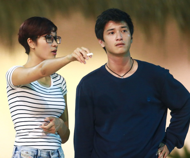 Phuong Mai, Huynh Anh bi nghi la diep vien sau cuoc goi la hinh anh
