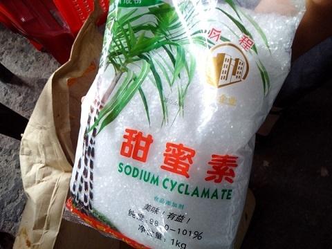 Canh bao gia vi 5 hat lam ngot 150 lit nuoc hinh anh 2 Đường cyclamate không có trong danh mục chất tạo ngọt được phép sử dụng tại Việt Nam.