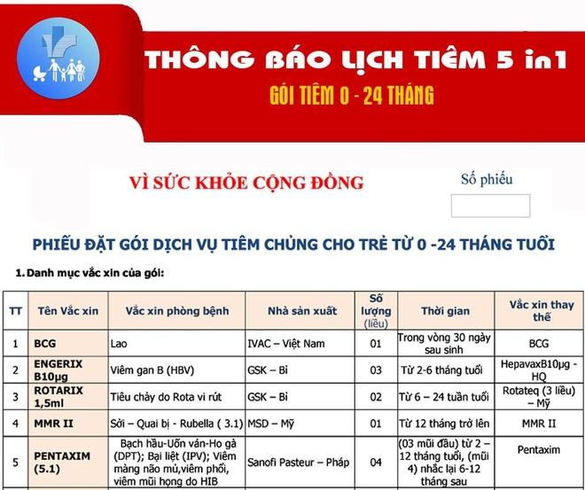 Lich tiem cu the vac xin 5 trong 1 tai Ha Noi hinh anh