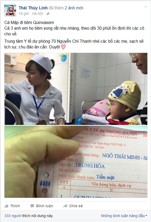 Ca si Thai Thuy Linh: 'Vi sao toi dua con di tiem Quinvaxem' hinh anh 1