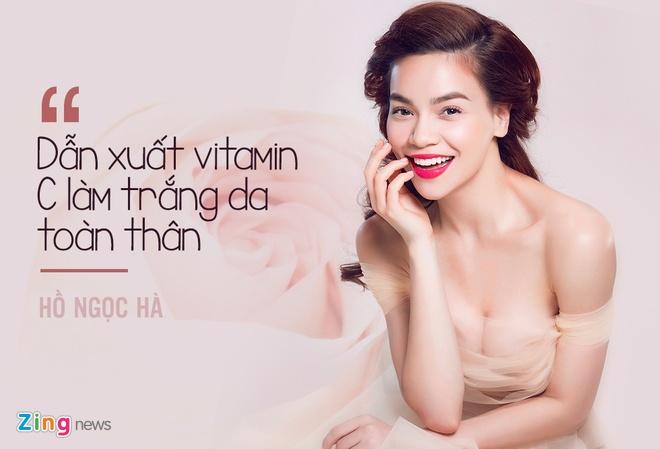 Bi quyet duong trang da cua sao Viet hinh anh
