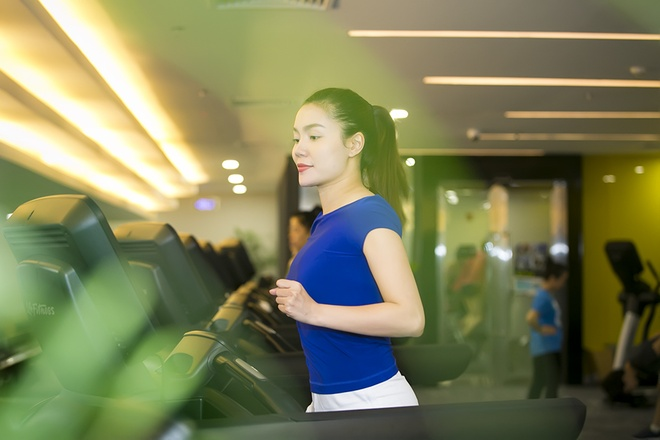 Ngoc Anh giam can, giu dang voi lich tap gym 3 buoi/tuan hinh anh 2