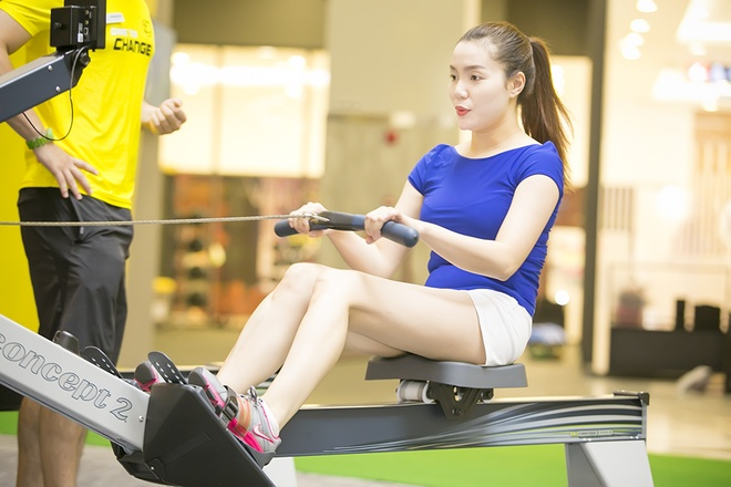 Ngoc Anh giam can, giu dang voi lich tap gym 3 buoi/tuan hinh anh 5