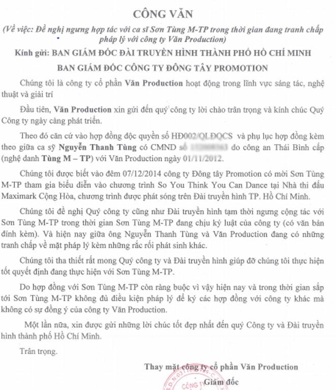 Son Tung M-TP bi cam dien show truyen hinh truc tiep hinh anh 1