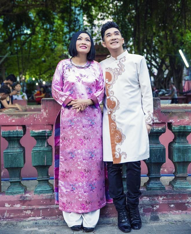 Quang Ha, Phuong Thanh dien ao dai le chua dau nam hinh anh 8