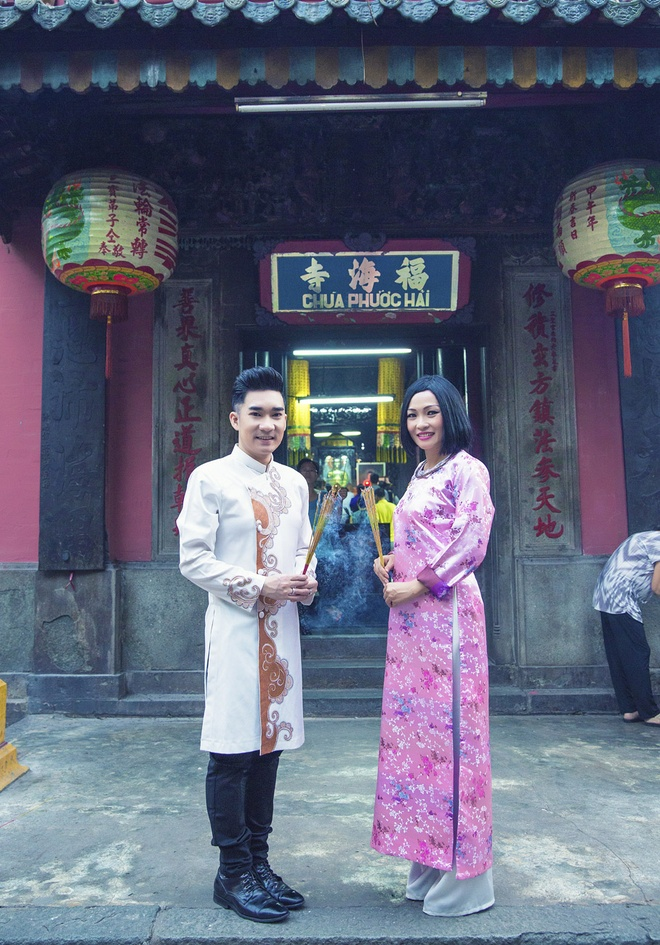 Quang Ha, Phuong Thanh dien ao dai le chua dau nam hinh anh 4