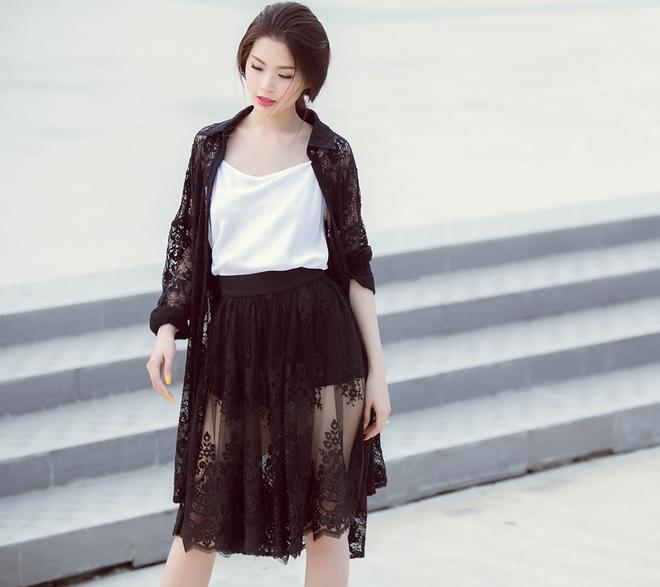 A hau Diem Trang goi cam voi 6 trang phuc duong pho hinh anh 1