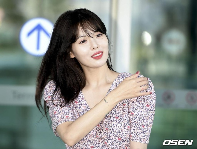 'Nu hoang goi cam' HyunA mac kin ra san bay hinh anh 1