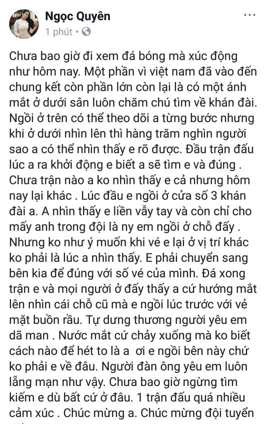 Ban gai Quang Hai, Tien Linh xuat hien xinh dep o khan dai san My Dinh hinh anh 4