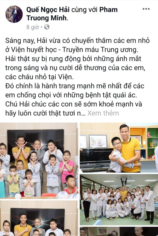 Fan 'boc phot' Que Ngoc Hai mac mai mot chiec ao vang suot tu Tet hinh anh 1
