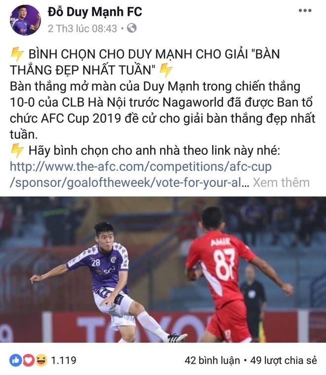 Dan mang buc xuc khi Duy Manh ve nhi binh chon ban thang AFC Cup 2019 hinh anh 5