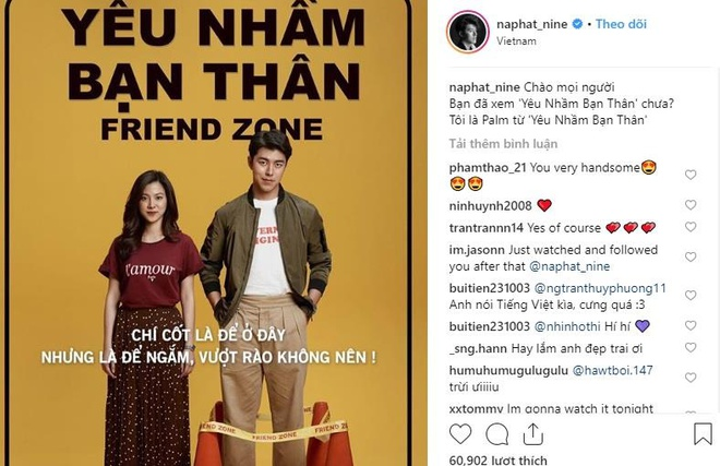 Nam chinh phim Friendzone gui loi chao fan Viet anh 2