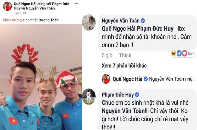 'Man' nhu Duc Huy: Chuyen khoan 124.000 dong mung sinh nhat Van Toan hinh anh 5