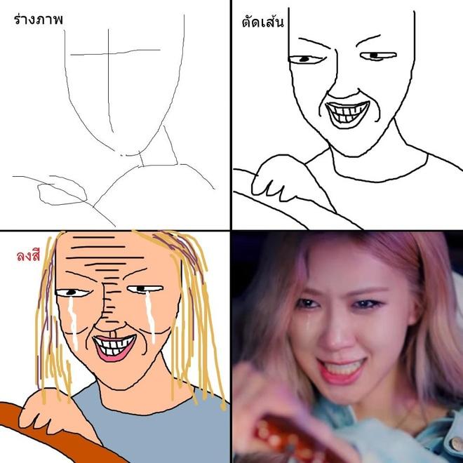 Fan huong dan ve Black Pink 'dung chuan' nhung nhin thay cu sai sai hinh anh 5
