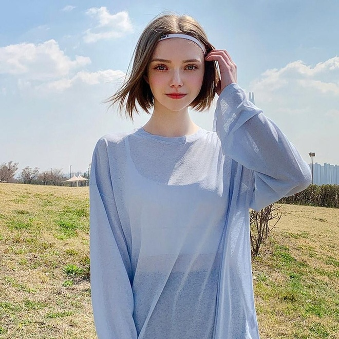 Hot girl Ukraine lam nguoi mau Han Quoc anh 12