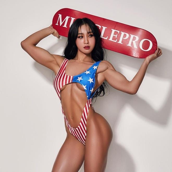 Nhan sac nhu hot girl cua van dong vien the hinh Han Quoc hinh anh 5