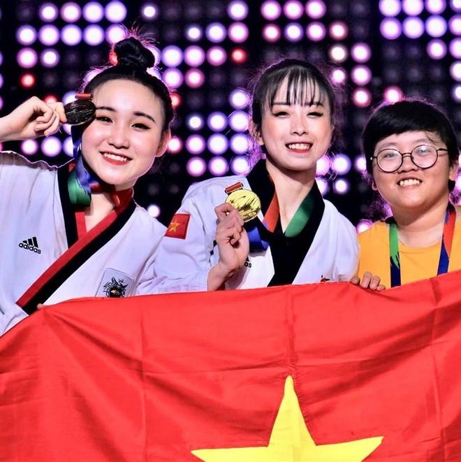 Nhan sac hai nu van dong vien gianh HCV taekwondo tai SEA Games hinh anh 2
