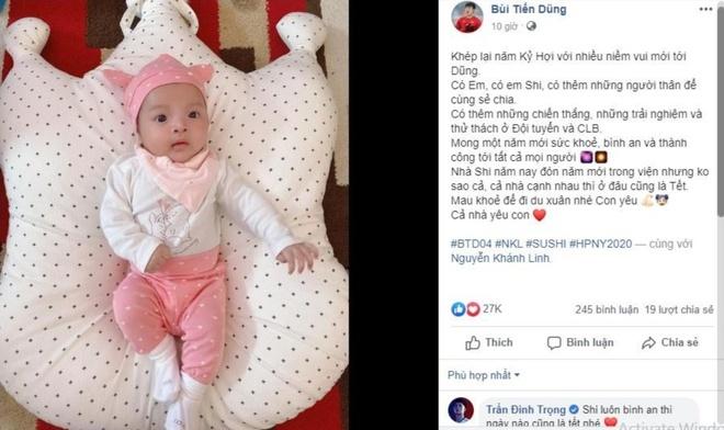 Gia đình Bùi Tiến Dũng đón Tết trong bệnh viện vì con gái ốm