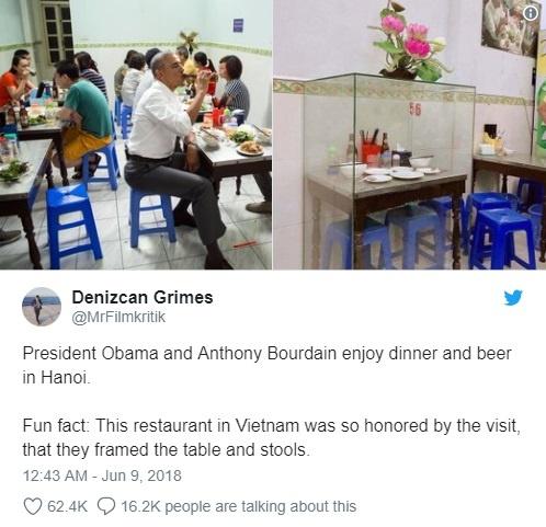 Cuu Tong thong Obama tuong nho dau bep Anthony Bourdain tren Twitter hinh anh 2