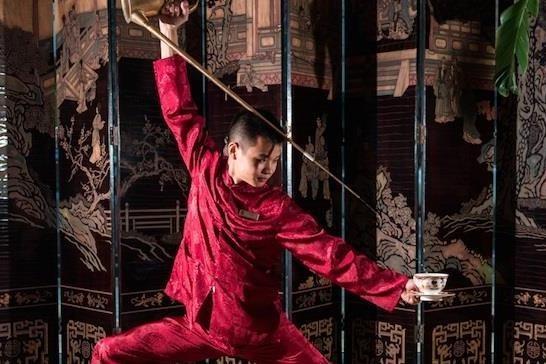 Nghe thuat uong tra Kung Fu co truyen hinh anh