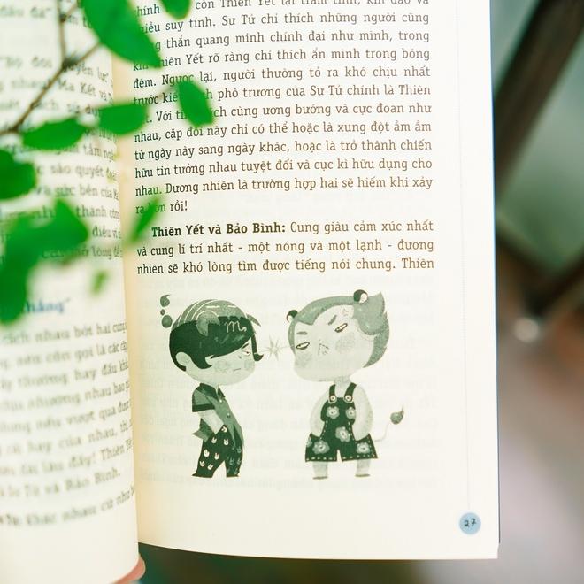 Phần minh họa dễ thương của bộ sách 365 ngày hoàng đạo.