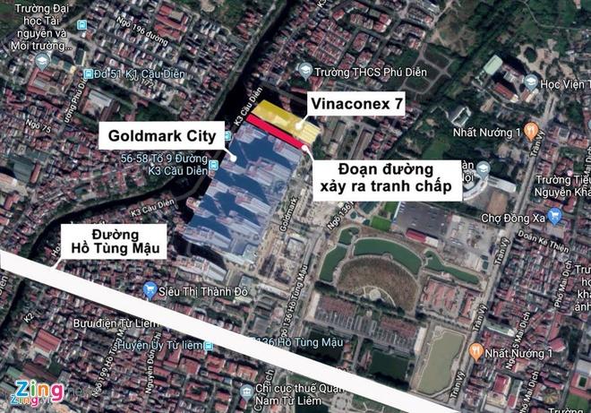 Do bo hang rao, thong duong lien khu Goldmark City, Vinaconex 7 hinh anh 3