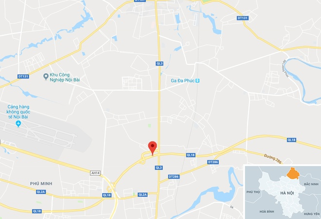 4 oto tong lien hoan tren duong ra san bay Noi Bai hinh anh 3