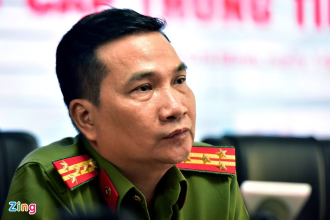 Đại tá Nguyễn Sỹ Quang, Phó giám đốc Công an TP.HCM. Ảnh: Lê Quân.