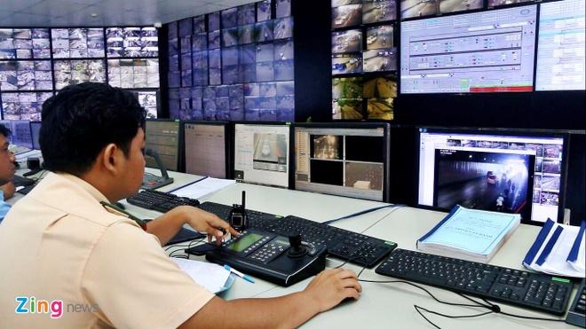 Trung tâm điều hành thông minh, nơi quản lý các camera giao thông tại TP.HCM. Ảnh: Thư Trần.