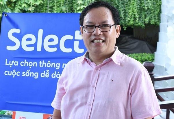 Ông Diệp Dũng, Chủ tịch Hội đồng quản trị Saigon Co.op được điều về Đảng bộ Công ty HFIC. Ảnh: Hồng Nga.