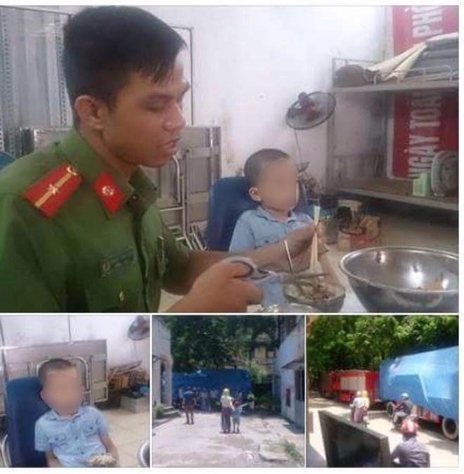 Canh sat Phong chay Chua chay tim thay be trai Ha Noi bi lac hinh anh 1
