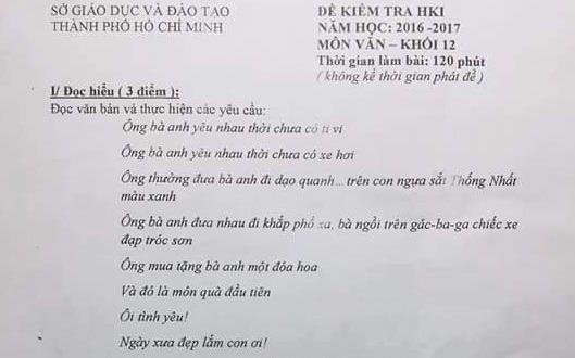 Bai hat 'Ong ba anh' vao de thi Ngu van lop 12 hinh anh