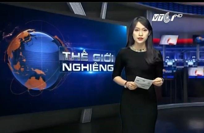 Khanh Vy lam MC VTV anh 1