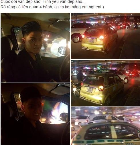 Tai xe taxi den tan nha tra dien thoai cho khach hinh anh 1