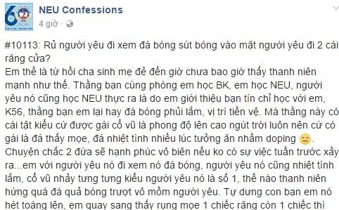 Chang trai sut bong lam gay hai rang cua cua ban gai hinh anh 1