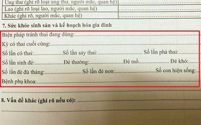 Phieu kham suc khoe hoi hoc sinh cap mot so lan pha thai hinh anh