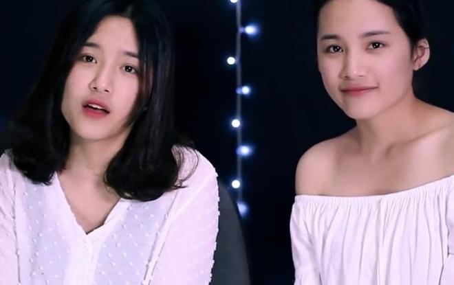 Chi em song sinh Hai Phong cover 'Co em cho' hinh anh 1