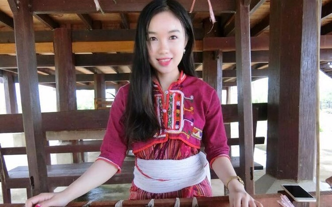 Thieu nu Lao xinh dep gioi tieng Viet, uoc mo lam bac si hinh anh